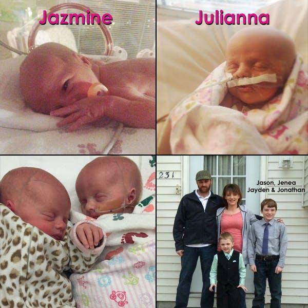 Jazmine, Julianna, Jason, Jenea, Jayden, and Jonathan
