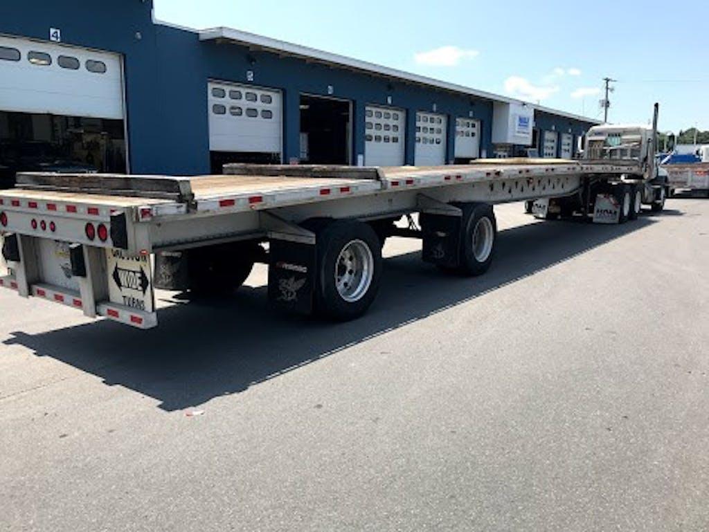 Flatbed trailer at Hale Trailer location